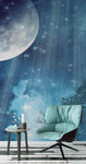 3D dream blue night sky moon wall mural wallpaper 19