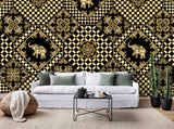 3D Tile Pattern Effect Wall Mural Wallpaper 9