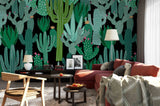 3D Green Cactus Wall Mural Wallpaper 20
