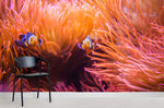 3D Red Coral Clownfish Wall Mural Wallpaper 11