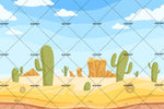 3D Cactus Desert Wall Mural Wallpaper SF65