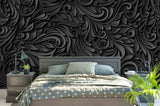 3D Black White Pattern Relief Effect Wall Mural Wallpaper 27