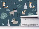 3D Elk Fox Rabbit Goat Wall Mural Wallpaper 11
