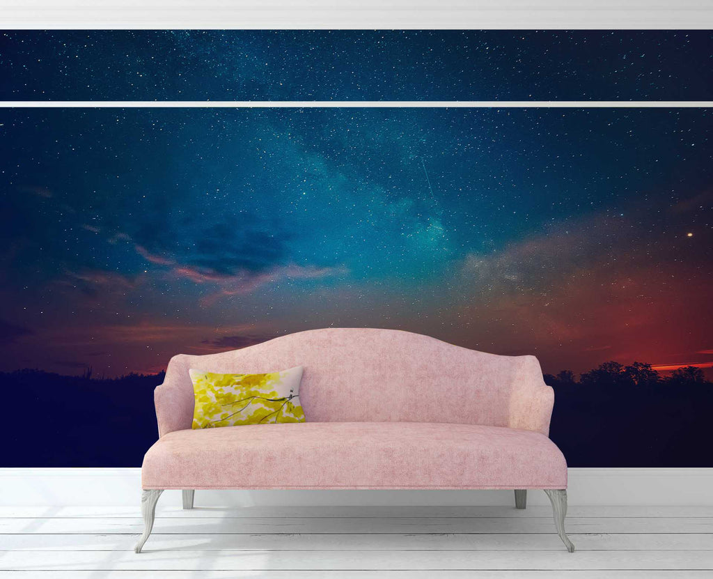 3d Night View Starry Sky Wall Mural Wallpaper 30 Jessartdecoration