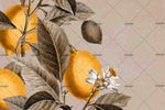 3D Fruits Lemon Blossom Wall Mural Wallpaper SF76