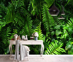 3D Green Tropical Plant Background Wall Mural Wallpaper 112