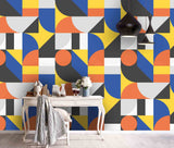 3D Color Irregular Geometry Wall Mural Wallpaper 107