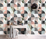 3D Color Circle Square Pattern Wall Mural Wallpaper 120