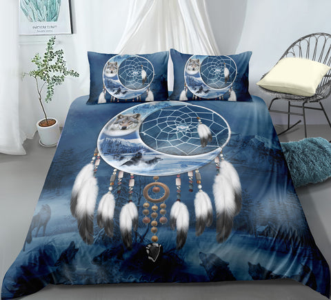 3D Indian Animal Dream Catcher Quilt Cover Set Bedding Set Pillowcases 114