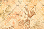 3D Yellow Dragonfly Wall Mural Wallpaper 38