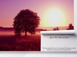 3D sunrise trees wall mural wallpaper 110