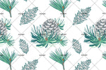 3D Green Leaf Pinecones Wall Mural Wallpaper 73