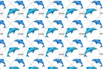 3D Blue Dolphin Wall Mural Wallpaper 84