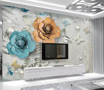3D Floral Butterfly Wall Mural Wallpaper 2687