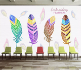 3D Feather Wall Mural Wallpaper SF82