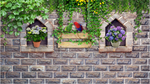 3D Potted Plants Parrot Creeper Wall Mural Wallpaper SF201