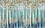 3D Blue Forest Oil Painting Wall Mural Wallpaper SF269