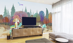 3D Elk Eagle Forest Wall Mural Wallpaper SF320
