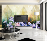 3D Forest Floral Wall Mural Wallpaper SF342