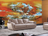 3D Claret Abstract Oil Painting Wall Mural Wallpaper SF41