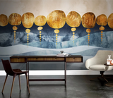 3D Abstract Geometry Mountain Wall Mural Wallpaper LQH 6