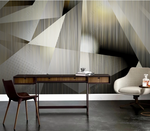 3D Abstract Geometric Pattern Wall Mural Wallpaper LQH 11