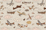3D Cartoon Airplane Cloud Wall Mural Wallpaper 71