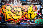 3D Colored Graffiti Background Wall Mural Wallpaper 9