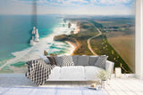 3D Blue Coast Scenery Wall Mural Wallpaper   19