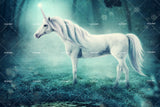 3D White Unicorn Wall Mural Wallpaper 43