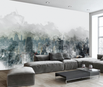 3D Abstract Wash Painting City Wall Mural Wallpaper JN 1493