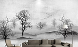 3D ink forest mountain wall mural wallpaper 210