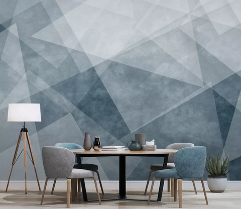 3D Geometric Wall Mural Wallpaper 306
