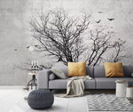 3D Withered Life Tree Birds Wall Mural Removable 120 - Jessartdecoration
