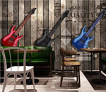 3D Colorful Guitar Board Wall Mural Removable Wallpaper 112 - Jessartdecoration