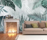 3D Modern Tropical Leaves Wall Mural Removable 167