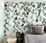 3D Watercolor Simple Leaves Wall Mural Removable 168