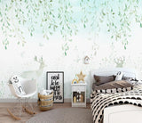 3D Watercolor Partysu Leaves Deer Wall Mural Removable 169 - Jessartdecoration