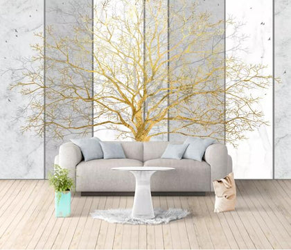 3D Board Tree Wall Mural Wallpaper 2646