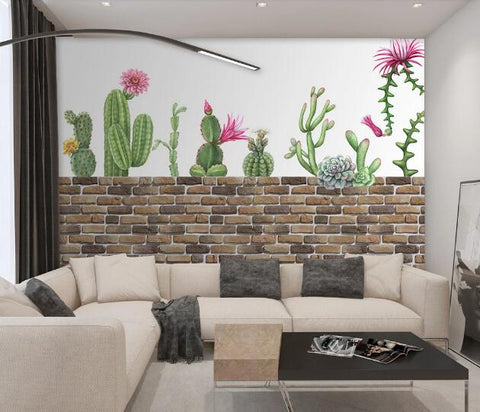 3D Cactus Wall Mural Wallpaper 2102