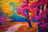 3D Trees Forest Oil Painting Wall Mural Wallpaper SF34