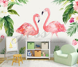 3D Nursery Kids Animals  Flamingo Removable Wallpaper