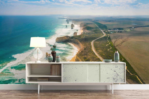 3D Great Ocean Road Mural Removable Wallpaper,Peel & stick Wall Mural, Wall Art,Wall Decal,Wall Sticker,Jess Art 42