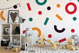 3D Shapes Removable Wallpaper,Peel and stick Wall Mural, Floral, Wall Art,Wall Decal,Kids,Nursery,Wall Sticker 14