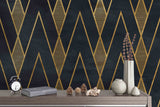 3D Glold Black Pattern Mural  Removable Wallpaper,Peel & stick Wall Mural, Wall Art,Wall Decal,Kids,Nursery,Wall Sticker,Jess Art 42