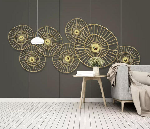 3D Abstract, Circular metal Wallpaper
