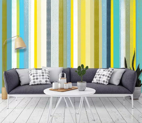 3D Abstract, Colorful, Striped Wallpaper