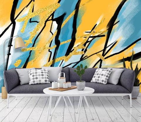3D Visual impact, Yellow, Abstract graphic Wallpaper