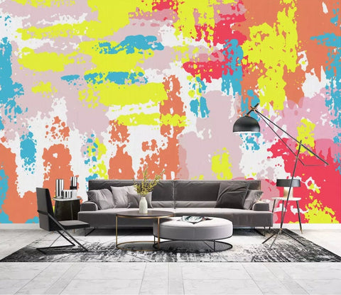 3D Vibrant, Abstract, Oil painting Wallpaper