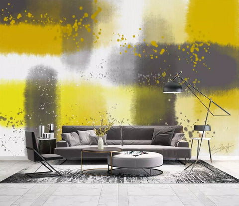 3D Vibrant, Abstract, Yellow, Oil painting  Wallpaper